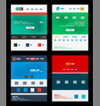 web site schemes templates set vector image