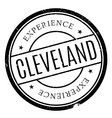 Cleveland stamp rubber grunge vector image