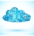 Abstract triangles isolated cloud vector image vector image