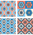 set of seamless floral patterns vector image vector image