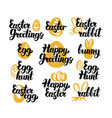 easter hand drawn quotes vector image
