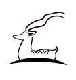 Deer silhouette logo vector image vector image
