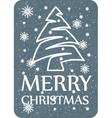 christmas card grey vector image