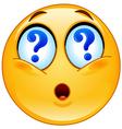 question emoticon vector image
