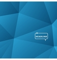 Abstract background blue triangle vector image