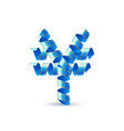 Yen sign made of spiral ribbon vector image