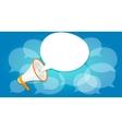 megaphone announce speaker shout online public vector image