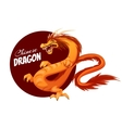 Banner with cartoon Chinese dragon vector image