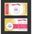 Business card template golden pattern on white vector image