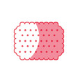 cookie snack sweet vector image