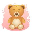 Cute teddy bear children toy vector image