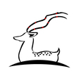 Deer silhouette logo vector image