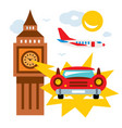 time machine flat style colorful cartoon vector image
