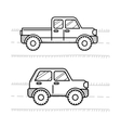 Cars coloring book for kids Pickup 4WD vector image vector image