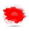 red paint ink brush strokes brushes lines vector image