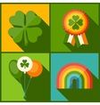 Saint Patricks Day background in flat design style vector image