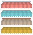 Flat Design Awning Set Vintage Style vector image