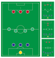 common modern soccer formation set vector image