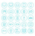 Line Circle Technology Gadgets Icons Set vector image