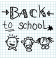Back to school made on the cellular background vector image