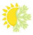 hot cold icon cartoon style vector image