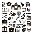 outline icon collection - school education vector image