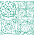Seamless pattern from diamond cutting vector image vector image