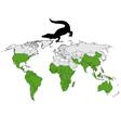 Crocodiles range vector image vector image