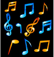 Music tones vector image