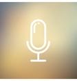 Retro microphone thin line icon vector image vector image