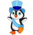 New Year baby penguin vector image
