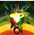 Rastafarian worldwide pipe vector image