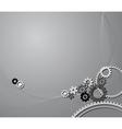 cogwheels background vector image