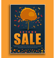 Design a dark blue poster for sale with autumnal vector image