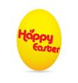 easter day golden egg cartoon character vector image