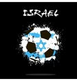 Flag of Israel as an abstract soccer ball vector image