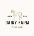 fresh milk dairy farm abstract sign symbol vector image
