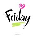 Friday hand written calligraphy Brush painted vector image
