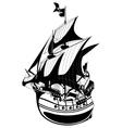 galleon vector image