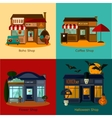 house flat set vector image