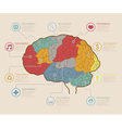 Infographic Elements Brain concept vector image