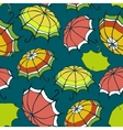 Seamless pattern with stylized colorful umbrellas vector image