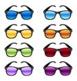 Sun glasses set vector image