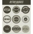 retro badges vector image vector image