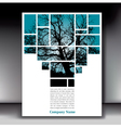 Tree Box Page with Gray Border vector image vector image