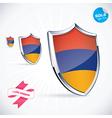 I Love Armenia Flag vector image