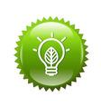 Green Symbols Lamp vector image