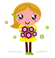 Cute Mother for Mothers day isolated on white vector image vector image
