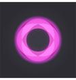 Neon mosaic circle vector image