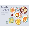 Traditional danish Christmas dinner flat icon vector image